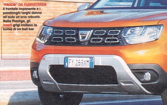 frontale dacia duster