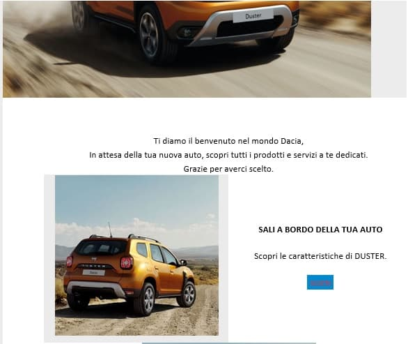 Newsletter Dacia Duster