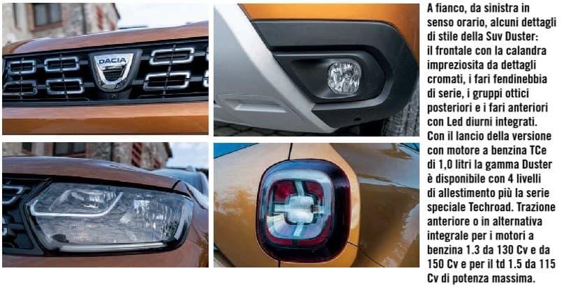 luci e frontale Dacia Duster