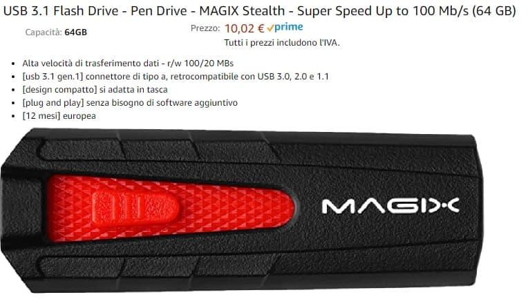 chiavetta USB 3.1 per aggiornamento Medianav